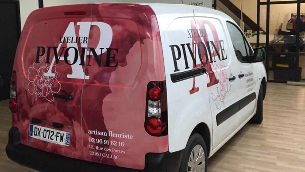 covering voiture atelier pivoine